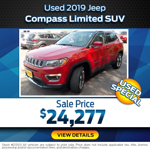 Used 2019 Jeep Compass Limited SUV Used Special
