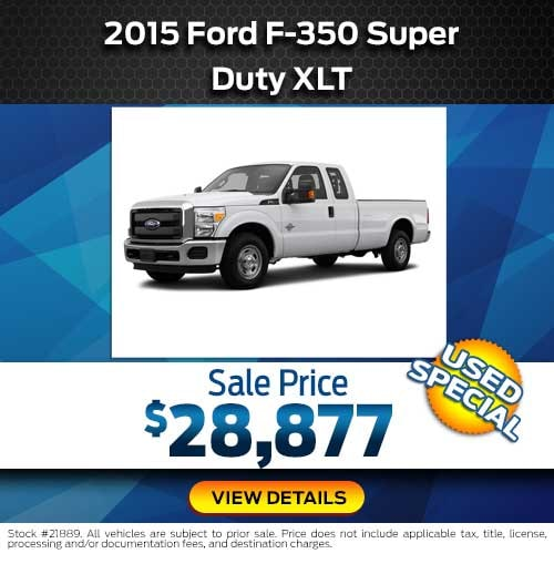 2015 Ford F-350 Super Duty XLT Special Offer