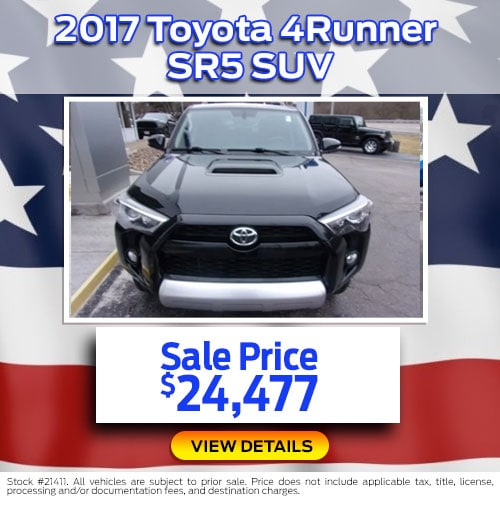 $24,477 Purchase Offer on a Used 2017 Toyota 4Runner SR5 SUV