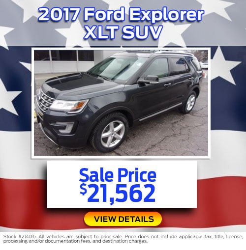 $21,562 Purchase Offer on a Used 2017 Ford Explorer XLT SUV