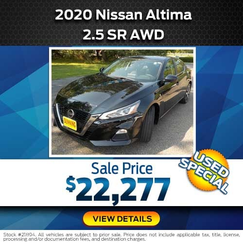 2020 Nissan Altima 2.5 SR AWD Special Offer