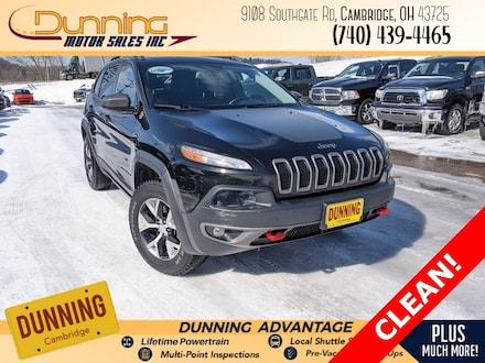 Used 2016 Jeep Cherokee Trailhawk 4x4 SUV for sale in Cambridge, OH