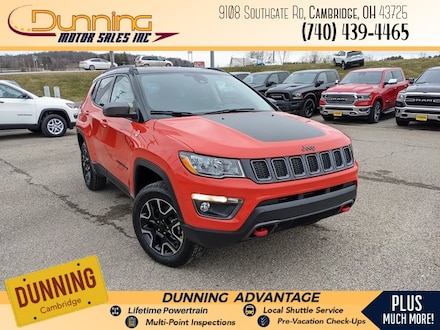 New 2021 Jeep Compass TRAILHAWK 4X4 Sport Utility for sale or lease in Cambridge, OH