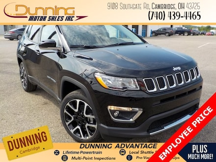 New 2020 Jeep Compass LIMITED 4X4 Sport Utility for sale or lease in Cambridge, OH