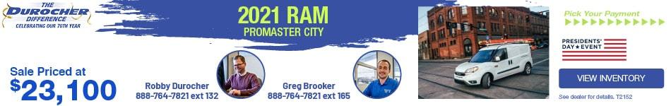2021 Ram ProMaster City