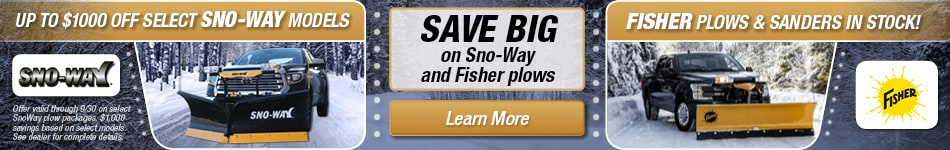 Snow Plow Special Offer