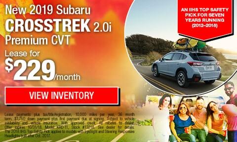 New 2019 Subaru Crosstrek Lease Offer