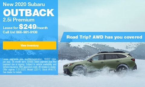 January Outback Lease Offer