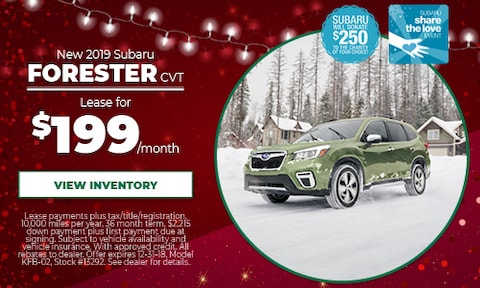New 2019 Subaru Forester Lease Offer