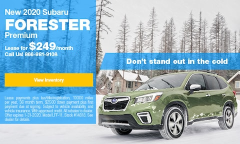 January Forester Lease Offer