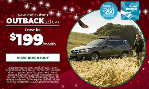 New 2019 Subaru Outback Lease Offer