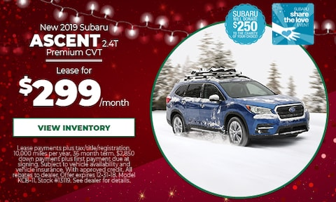 New 2019 Subaru Ascent Lease Offer