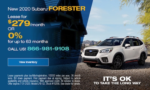 July Forester Offers