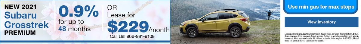 New 2021 Subaru Crosstrek Premium- April Offer