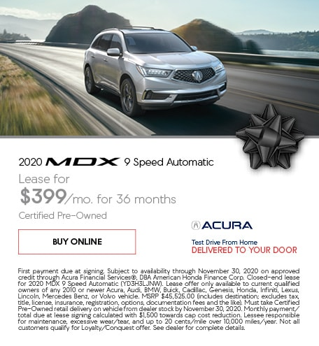 Certified Pre-Owned 2020 Acura MDX | Lease