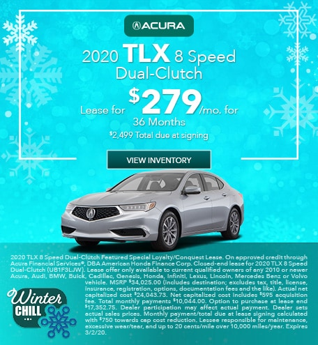 New 2020 TLX 8 Speed Dual-Clutch | Lease