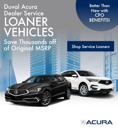 Duval Acura Dealer Service Loaner Vehicles