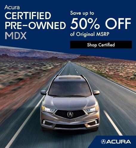 Acura Certified Pre-Owned MDX | Savings