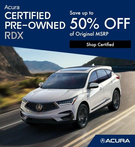 Acura Certified Pre-Owned RDX | Savings