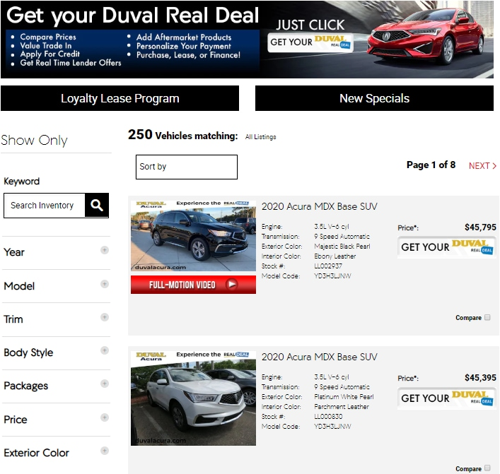 Shop Acura Online Or In Jacksonville