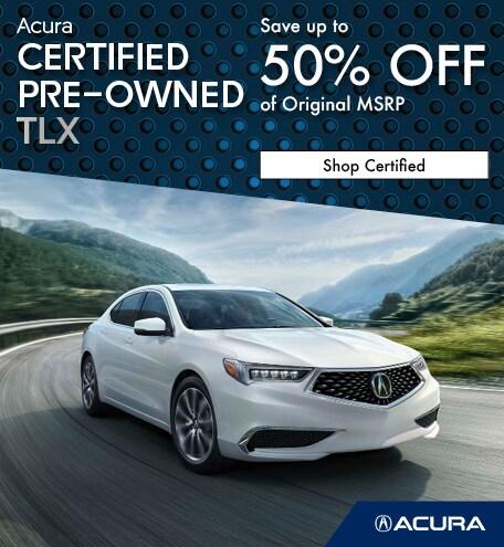 Certified Acura TLX   Savings
