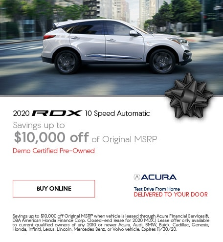 Certified Pre-Owned 2020 Acura RDX | Savings
