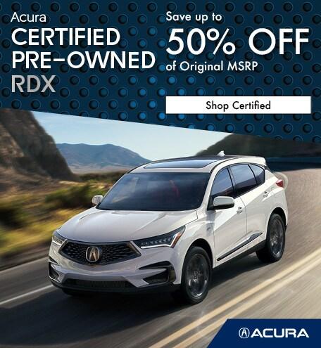 Certified Acura RDX   Savings