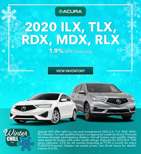 New 2020 ILX, TLX, RDX, MDX, RLX | APR
