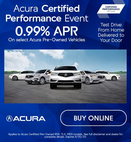 Acura Certified Performance Event | 0.99% APR