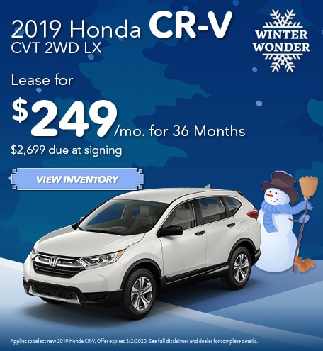 New 2019 Honda CR-V CVT 2WD LX | Lease
