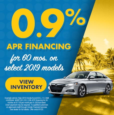 APR Special on Select 2019 Models