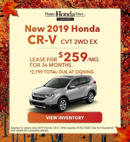 New 2019 Honda CR-V EX | Lease