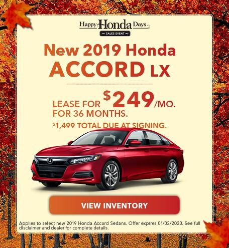 New 2019 Honda Accord LX | Lease