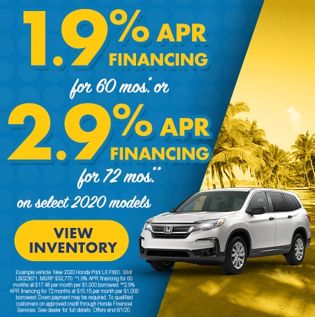 APR Special on Select 2020 Models