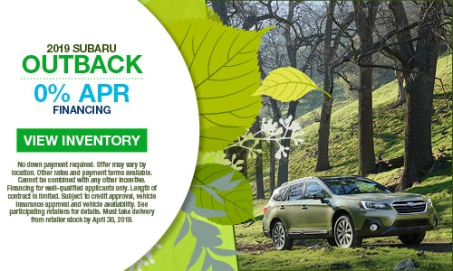 April Outback 0% APR Offer