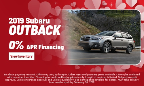 New 2019 Outback Offer at Subaru of Gainesville
