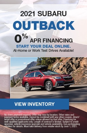 2021 Subaru Outback- May Offer