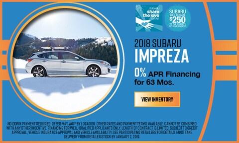 2018 Subaru APR Offer