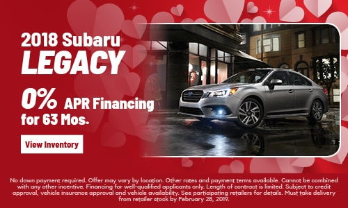 New 2018 Legacy Offer at Subaru of Gainesville