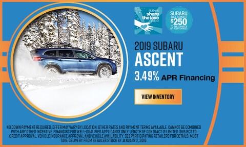 2019 Subaru Ascent APR Offer