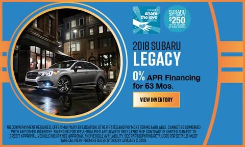 2018 Subaru Legacy APR Offer