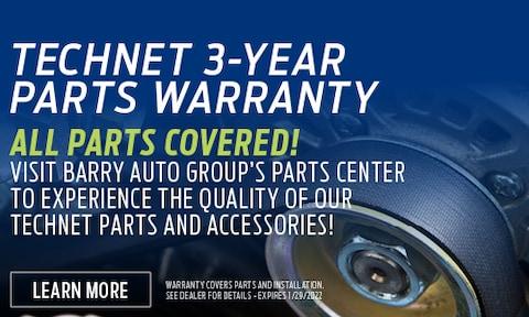 TechNet 3-Year Parts Warranty