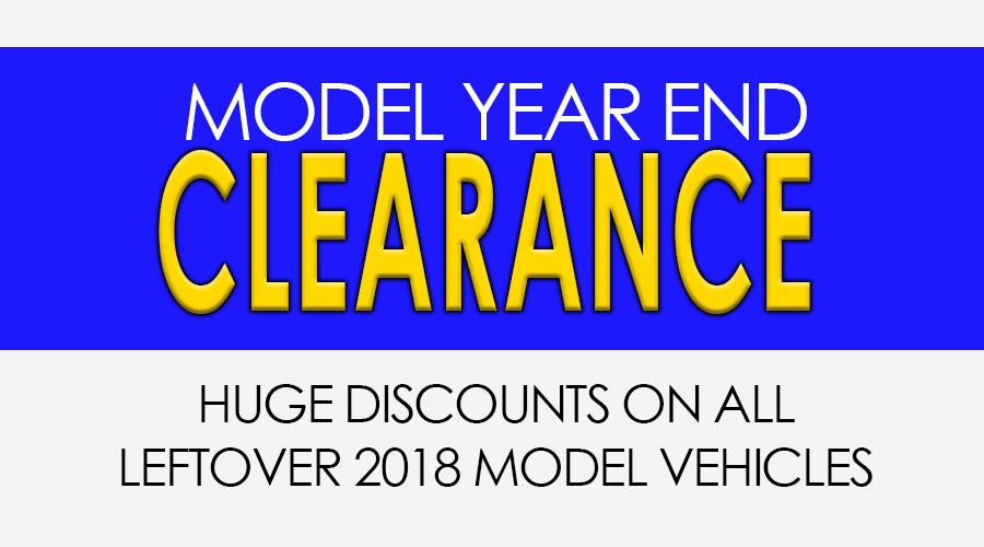 Model Year End Clearance Savings Event