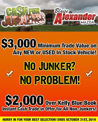 Blaise Alexander State College Pa >> Cash For Junkers At Blaise Alexander Mazda State College Pa