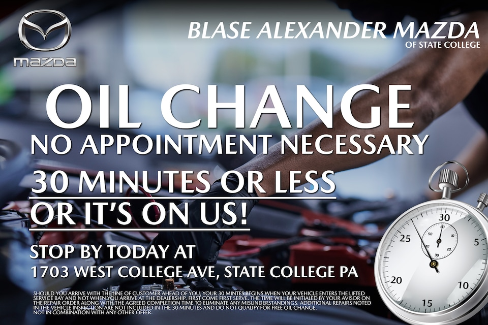 Oil Change No Appointment Necessary