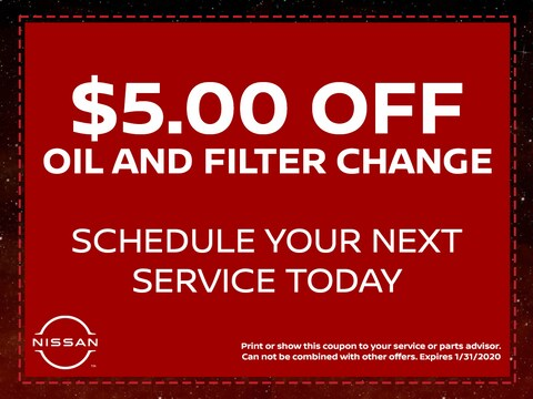 $5.00 Oil and Filter Change