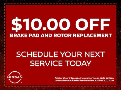 $10.00 Off Brake Pad and Rotor Replacement