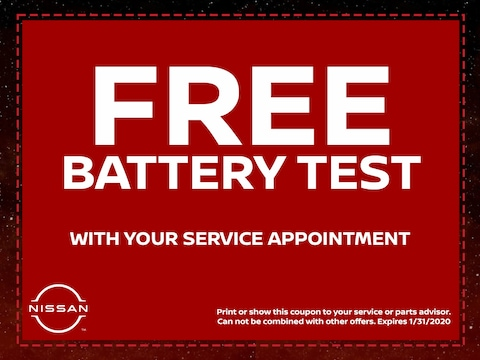 Free Battery Test with Your Service Appointment
