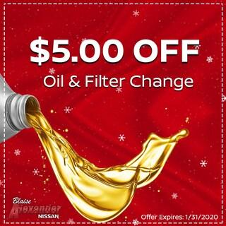 $5.00 Off Oil & Filter Change