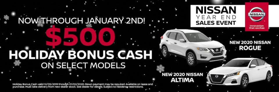 Holiday Bonus Cash For You at Alexander Nissan